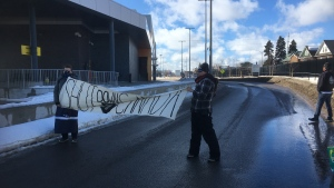 Sault International Bridge blockade protest (Feb. 24, 2020, Jairus Patterson)
