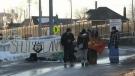 Protesters blocking access to International Bridge