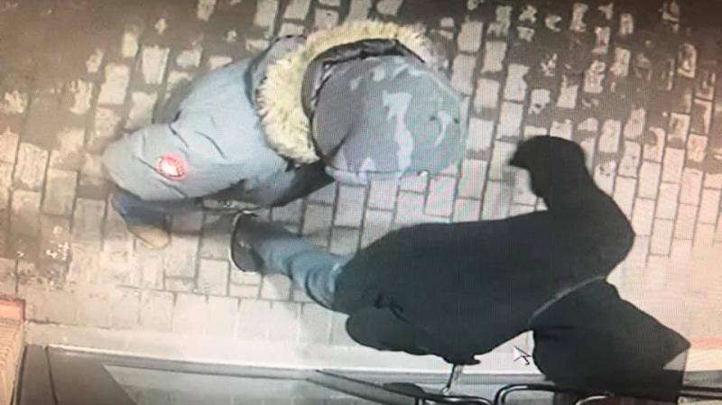 Surveillance footage taken of two men seen breaking in to Naples Pizza on rue Montcalm in Gatineau, Feb. 23, 2020. (Photo courtesy of Charbel Karakouzian)