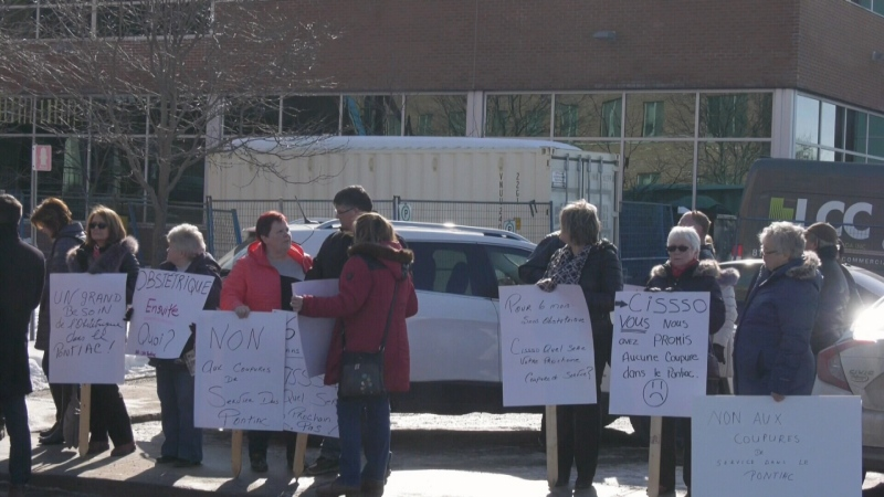 Protests against closure of Shawville birthing uni