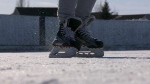 Skating in Winnipeg. (source: Mason DePatie/ CTV News Winnipeg)
