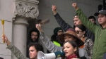 Protesters rally on steps of B.C. legislature