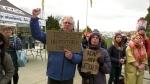Demonstrators gather at B.C. legislature