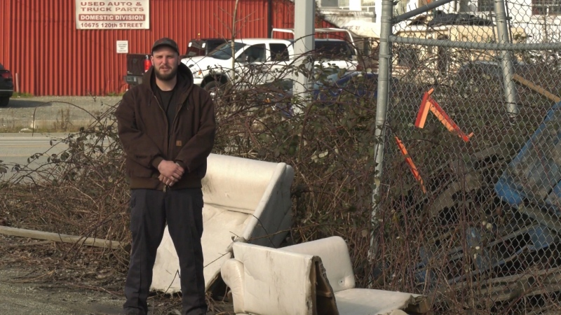 Surrey resident Rob Rice says he's fed up with illegal dumping in his city and is trying to do his part to clean up the mess.
