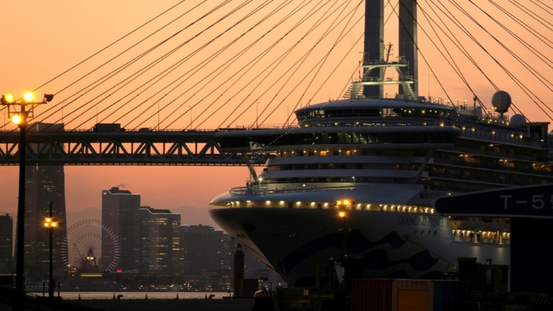 Japan has come under increasing pressure over its handling of the Diamond Princess cruise ship. (AFP)