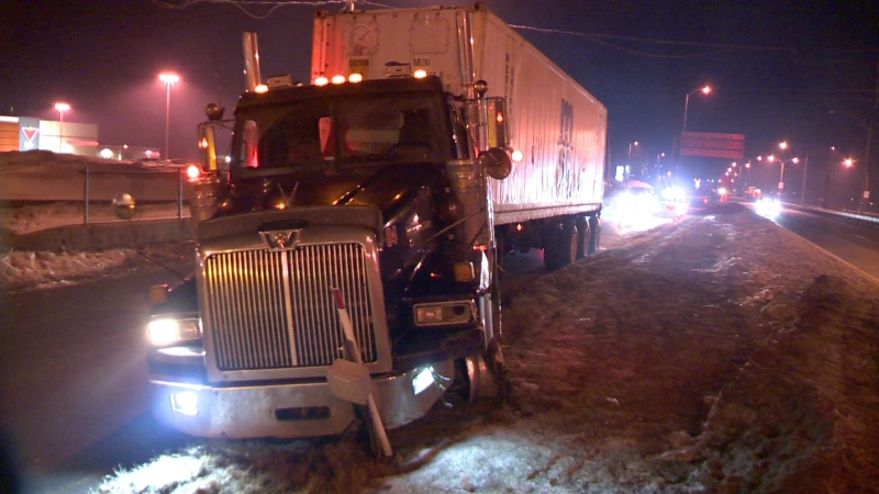 Stolen trucks lead Quebec police on a chase through the south shore.