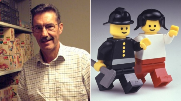 Jens Nygaard Knudsen worked at Lego for 32 years from 1968 to 2000. (Lego / Twitter / CNN)