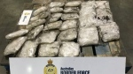 An image, provided by Australian Federal Police, showing 154 kilograms of meth smuggled inside a shipment of silver concentrate from Mexico to Melbourne, Australia. (AFP)
