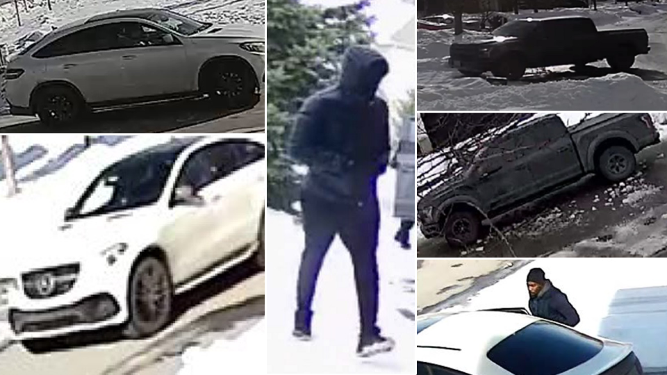 Ottawa Police are looking to identify vehicles and suspects involved in a series of break-ins.