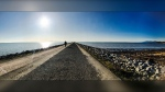 A sunny day at Richmond, B.C.'s Iona Beach was captured Thursday, Feb. 20, 2020, by Weather Watch app user Mark.