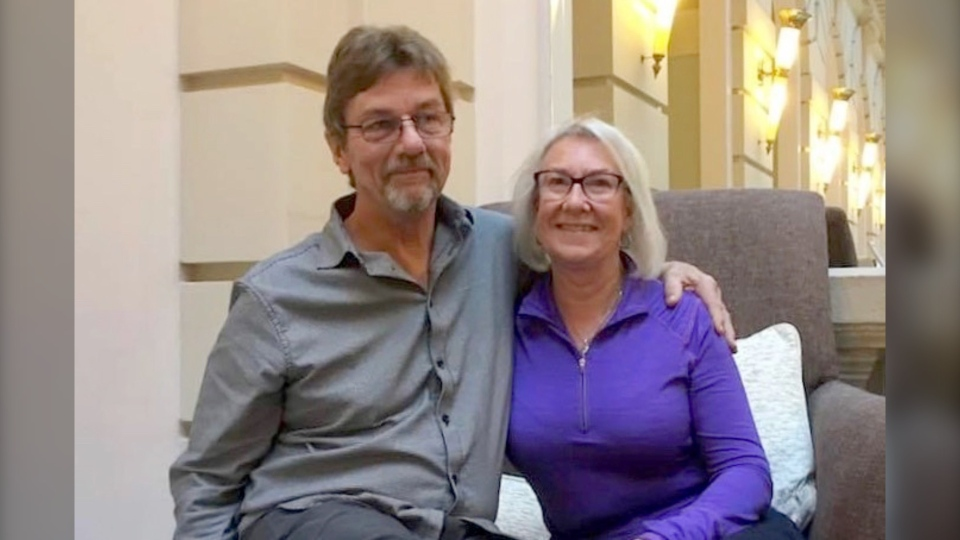 Ken Elliott and his wife, Linda. Ken was shot during an apparent home invasion on the island of Barbados. (Landon Zabloski/GoFundMe)