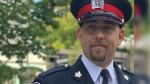 Cory Trainor, a constable with the West Grey Police Service, is seen in this family photo. (Source: Westmount Memorial Celebration Centre)