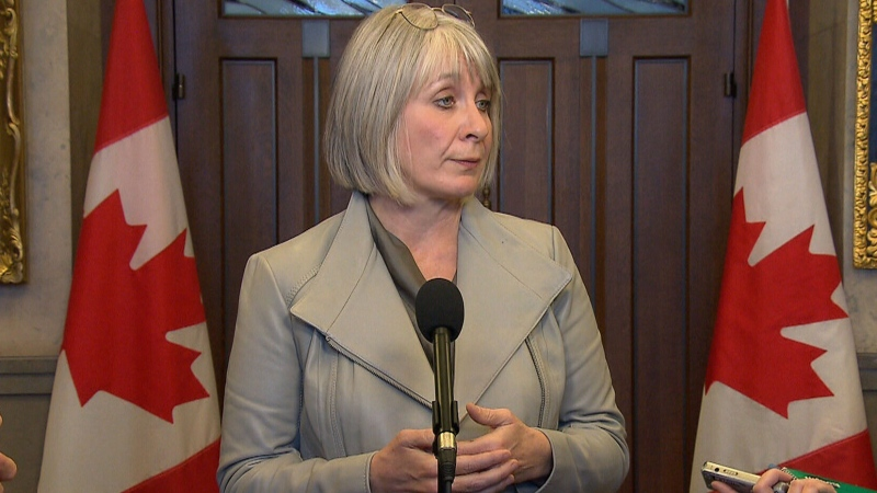 Ministers speak after question period in the House