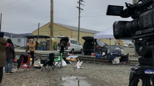 Demonstrators blocked rail traffic in Abbotsford for about 16 hours but eventually vacated the tracks on Feb. 25, 2020.