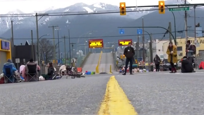 Blockade outside Vancouver port
