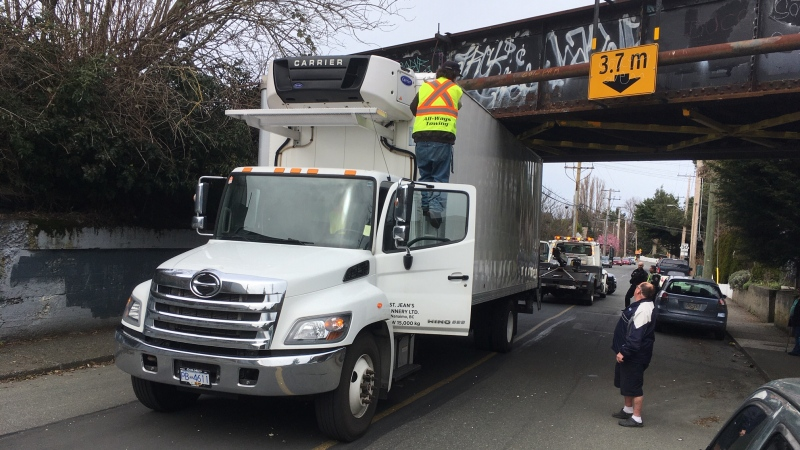 Tow trucks were called to the incident at approximately 12:30 p.m. Tuesday: Feb. 25, 2020 (CTV News)