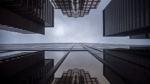 Bank buildings are photographed in Toronto's financial district on June 27, 2018. THE CANADIAN PRESS/Tijana Martin