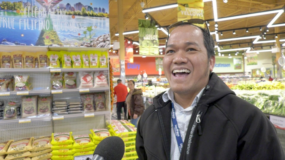 Ben Lopez visited Seafood City on Tuesday and said it was like being home in the Philippines.