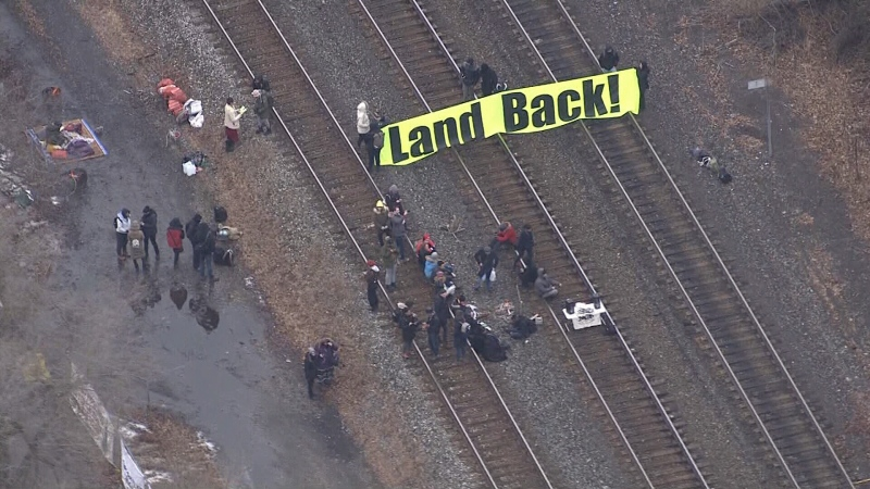 GO Transit service was interrupted due to a protest on the rails.