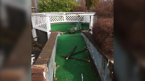 Employees of the Miracle Beach Mini Golf were called by their alarm company Sunday morning notifying them that intruders had broken into their facilities along the Island Highway in Black Creek. (Miracle Beach Mini Golf/Facebook)