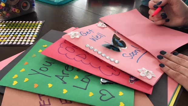 Local homemade Get Well cards receive national attention