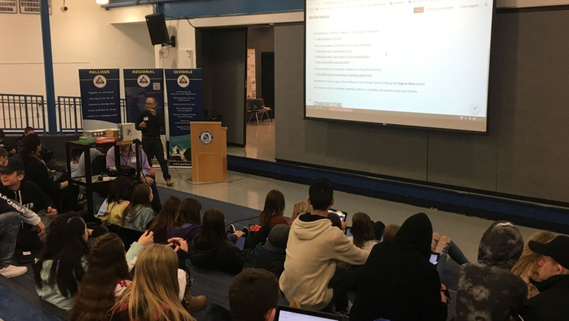 A number of southern Alberta students took part in a special event aimed at teaching them important digital skills.