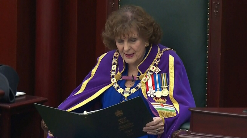 Throne speech addresses rail blockades