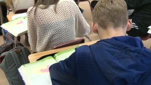 Student in classroom. (CTV News Edmonton)