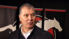 CFL Commissioner Randy Ambrosie was in Calgary Tuesday talking to fans and executives about the future of the league.