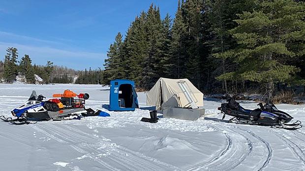 Winter camping. Photo by Iain Shepherd.
