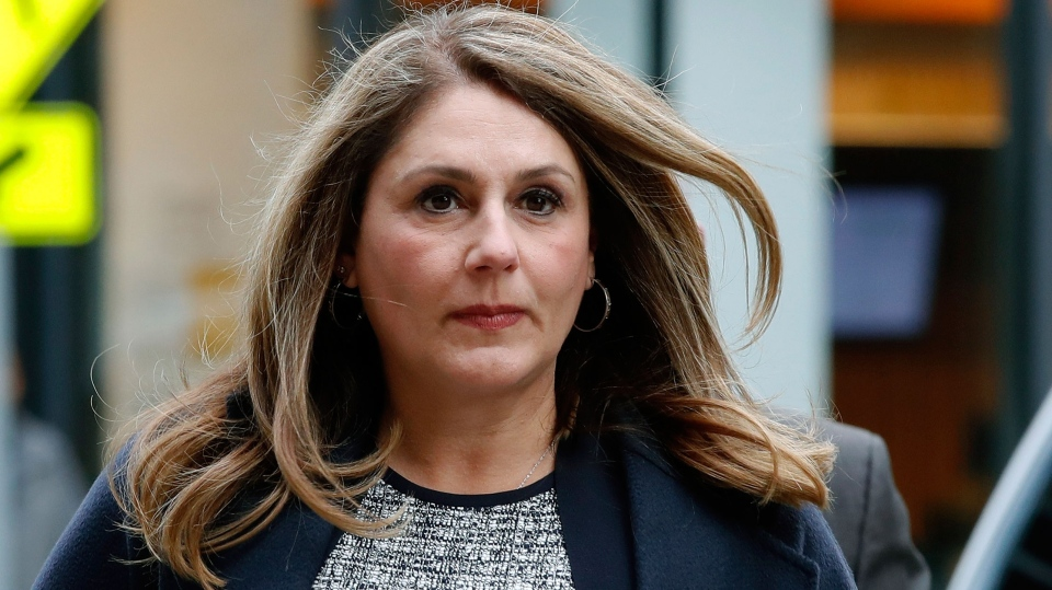 Michelle Janavs outside the federal court Tuesday. (Elise Amendola/AP/CNN)