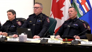 CPS Chief Constable Mark Neufeld at the meeting of the Calgary Police Commission on Feb. 26, 2019