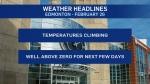 Weather headlines, Feb. 26
