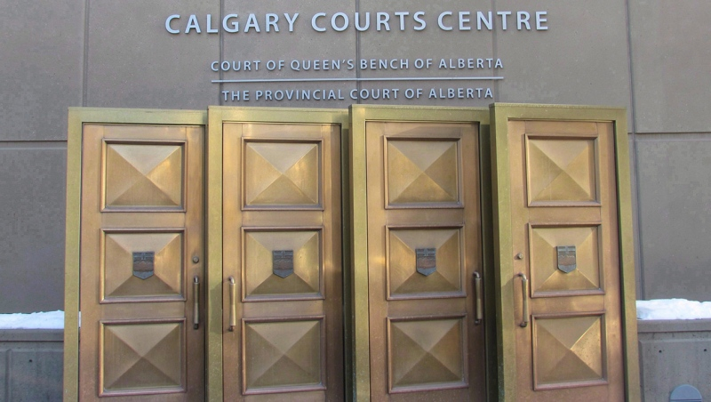 The sign at the Calgary Courts Centre in Calgary, is shown on Friday, Jan. 5, 2018. Lawyers for the government of Alberta are scheduled to be in a Calgary courtroom Wednesday to ask a judge to stay a judge's order that requires it to make an immediate decision on a proposed oilsands project northwest of Fort McMurray. THE CANADIAN PRESS/Bill Graveland