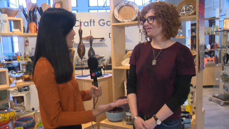 Adriana takes a look inside a unique exhibit at the Alberta Craft Gallery