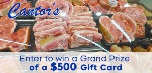 Cantor's Spring Grocery Giveaway 2020 Banner