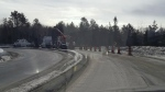 Single transport crash on the northbound ramp of Hwy144 from Hwy17 Feb. 26/20 (OPP)