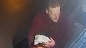 A suspect in the theft of a float plane in Vancouver is shown in an image released by police.