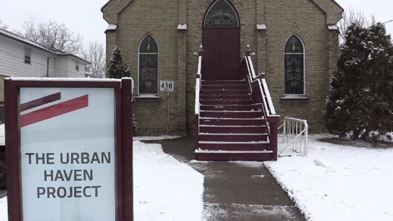 The Urban Haven Project at Beth Emanuel Church is helping homeless men in London, Ont., Wednesday, Feb. 26, 2020. (Brent Lale / CTV London)