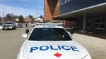 Sudbury police at Sudbury Secondary School after potential threat causes lockdown. Feb. 26/20 (Molly Frommer/CTV Northern Ontario)
