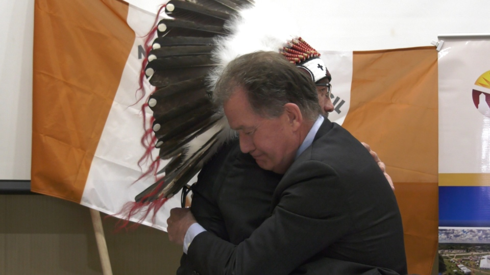 Mushkegowuk Grand Chief and Mayor of Timmins ink a
