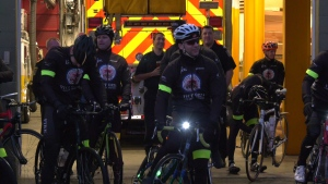 17 members of the Victoria Fire Department are riding to the B.C. Children's Hospital to support a colleague's daughter who was recently diagnosed with cancer: Feb. 26, 2020 (CTV News)