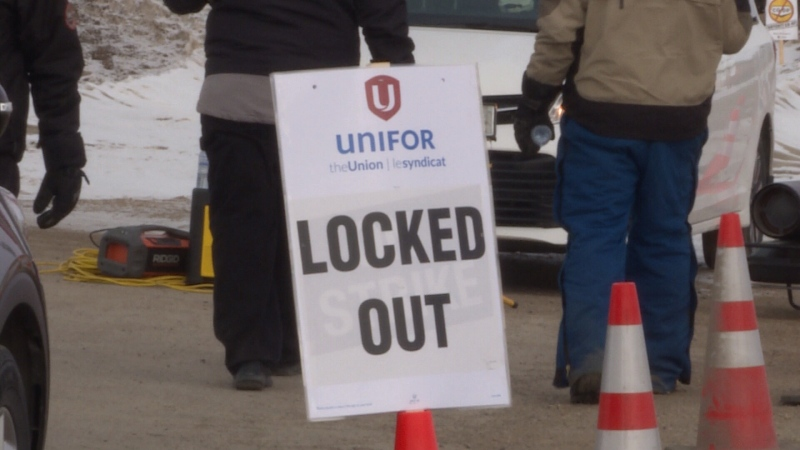 Locked out Co-op Refinery workers have set up a blockade in Yorkton