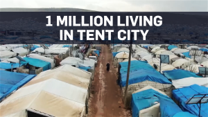 Drone footage captures scale of camp Atmeh