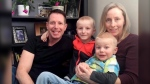 Mike Cochlin, left, with sons Liam, 8, Quinn, 6, and wife, Erin. (GoFundMe)