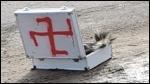 Swastika and dead skunk found