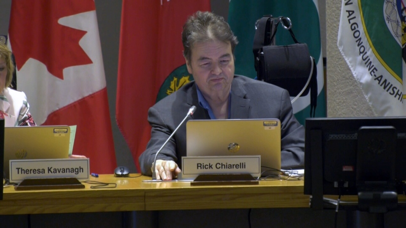 Rick Chiarelli at his City Council seat Feb. 26, 2020.