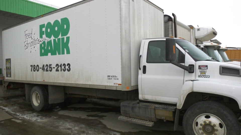 An Edmonton's Food Bank truck. Feb. 26, 2020. (CTV News Edmonton)