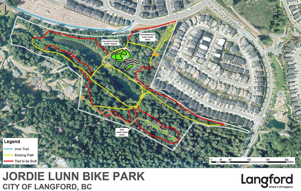 The proposed layout for the Jordie Lunn Bike Park: (City of Langford)