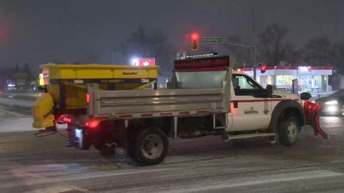 A City of Waterloo snowplow is seen here. Feb. 26, 2020.
